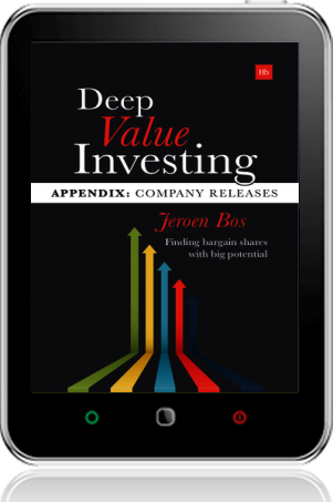 Cover of Deep Value Investing Appendix on Tablet by Jeroen Bos
