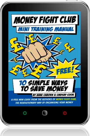 Cover of Money Fight Club Mini Training Manual on Tablet by Anne Caborn andLindsay Cook