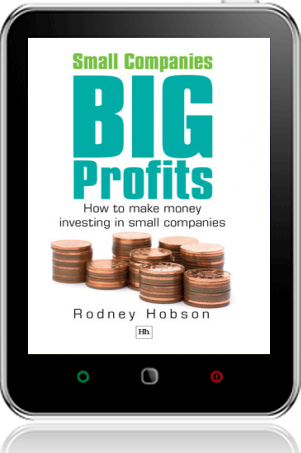 Cover of Small Companies, Big Profits on Tablet by Rodney Hobson