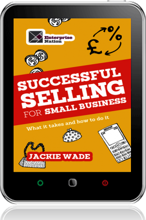 Cover of Successful Selling for Small Business on Tablet by Jackie Wade