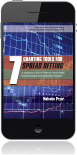 Cover of 7 Charting Tools for Spread Betting on Mobile by Malcolm Pryor