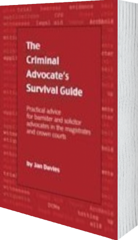 Cover of The Criminal Advocate's Survival Guide by Jan Davies